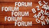 The word forum — Stock Photo