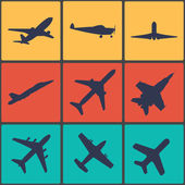 Airplane sign. Plane symbol. Travel icon. Flight flat label. — Stock Vector
