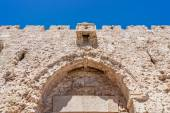 Upper part of Zion Gate, Jerusalem — Stock Photo
