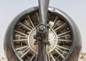 Elica e motore di aereo d'epoca — Foto Stock