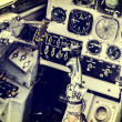 Old device in the pilot cockpit — Stock Photo #76508149