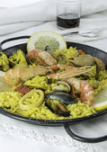 Paella, typical food — Stock Photo