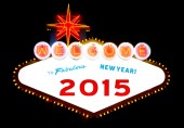 Happy to New Year 2015 — Stock Photo