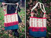 Etnik el yapımı çanta — Stok fotoğraf