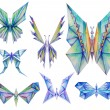 Stylized Color Pencil Butterflies — Stock Photo #63108305
