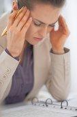 Portrait de femme d'affaires frustré — Photo