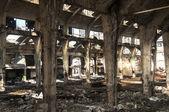Old abandoned railway plant inside — Stock Photo