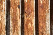 Rusty surface of corrugated sheet — 图库照片