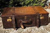 Gamla retro läder resväska — Stockfoto