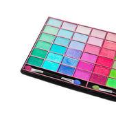 Close up of colorful eyeshadows — Stock Photo
