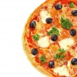 Tasty pizza with olives — Stock Photo #63282435