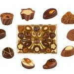 Mixed Chocolates with box — Stock Photo #63283619