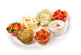 Two italian tagliatelles — Stock Photo