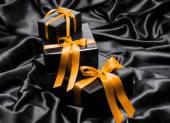 Caixas de presente preta — Foto Stock
