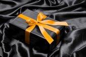 黒のギフト ボックス — ストック写真
