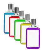 Balsam bottles on white — Stock Photo