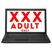 Laptop computer with warning on screen — Stock Photo