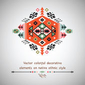 Vector colorful decorative element on native ethnic style — Stock Vector