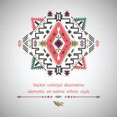Vector elements on native ethnic style — Vecteur