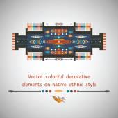 Colorful decorative element on native ethnic style — Vecteur