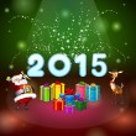 Santa and many gifts — Stock Photo #58488859