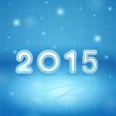 2015 on Ice and snow — Stock Photo