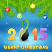 Christmas background with inscription and seed — Stock Photo