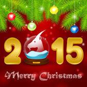 Christmas background globe with goat — Stock Photo