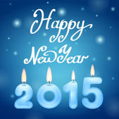 Candles 2015 Happy New Year — Stock Photo