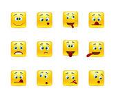 Set crazy emoticons — Stock Vector