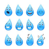 Funny raindrops — Stock Vector