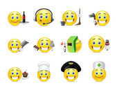 Smilies different professions — Stock Vector