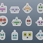 Stickers robots — Stock Vector #70574473