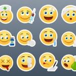 Emoticons doctor — Stock Vector #70574855