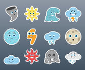 Stickers varying weather — Stock Vector