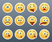 Funny emoticons grimace — Stock Vector