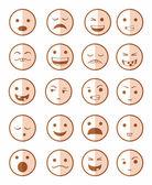 图标设置 20 情感笑红 — 图库照片