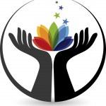рука цветок логотип — Cтоковый вектор #52508323