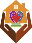 Home care logo — Stock Vector