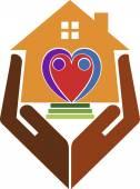 Home care logo — Vector de stock