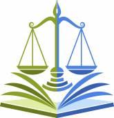 Hukuk eğitimi logosu — Stok Vektör