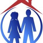 Couple house logo — Stock Vector #54451467