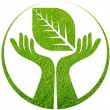 Hand leaf logo — Stock Photo #60244761