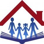 Education family logo — Stock Vector #60322323