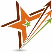 Star logo — Stock Vector