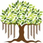 Banyan tree logo — Stock Vector