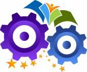 Industrial education logo — Stock Vector