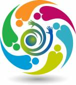 Active human logo — Stock Vector