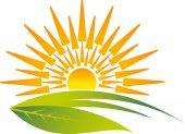Eco sunrise logo — Stock Vector