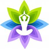 Logo yoga — Vector de stock
